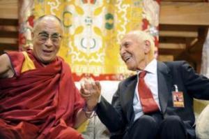 Le Dalaï-Lama et Stéphane Hessel-Toulouse 2011