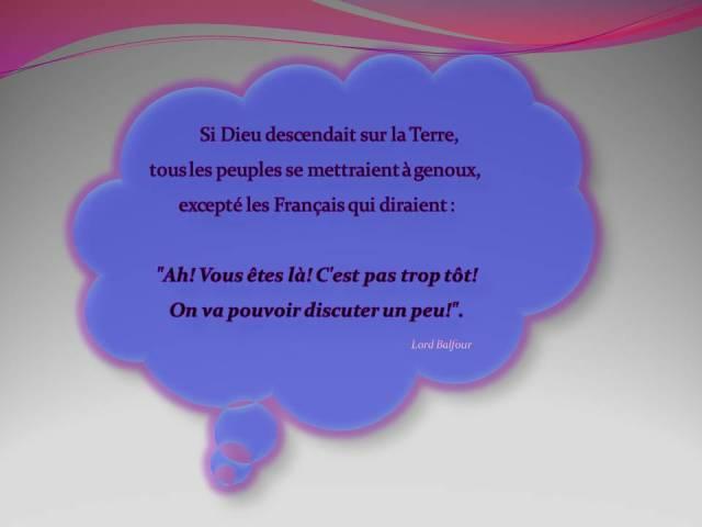 Humour : les Français et ...Dieu ...