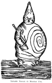Ubu dessiné par Alfred jarry