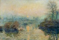 Claude Monet - Soleil couchant, effet hiver