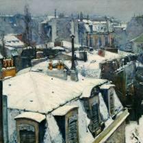 Gustave Caillebotte - Paysage de toit dans la neige