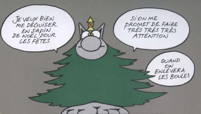 Le chat se dévoue  de P. Geluck