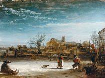 Winterlandschaft - Rembrandt (paysage d'hiver)