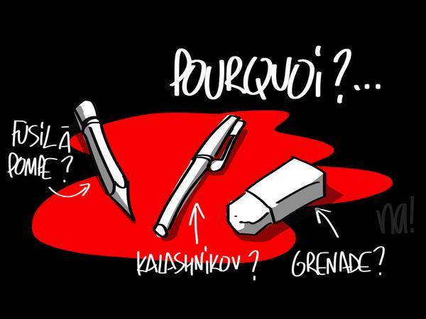 Na_dessinateur à BFMTV rend hommage aux disparus de Charlie -Hebdo