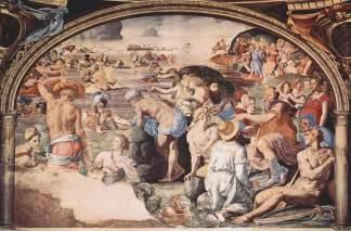 Angelo Bronzino - Passage de la Mer Rouge (Florence)