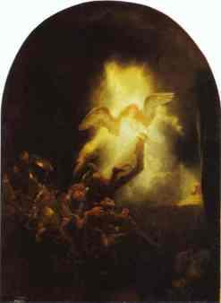 Rembrandt - La résurrection du Christ