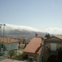 #Nice - Cascade de brouillard. Étonnant !